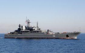 Военный корабль РФ столкнулся с сухогрузом на пути к оккупированному Крыму
