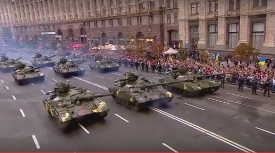 Военный парад в Киеве: полное видео (1)