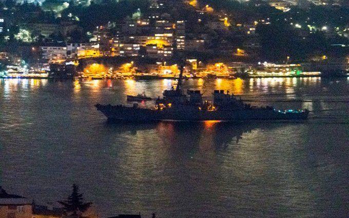 Військовий есмінець США увійшов у Чорне море: з'явилися перші фото