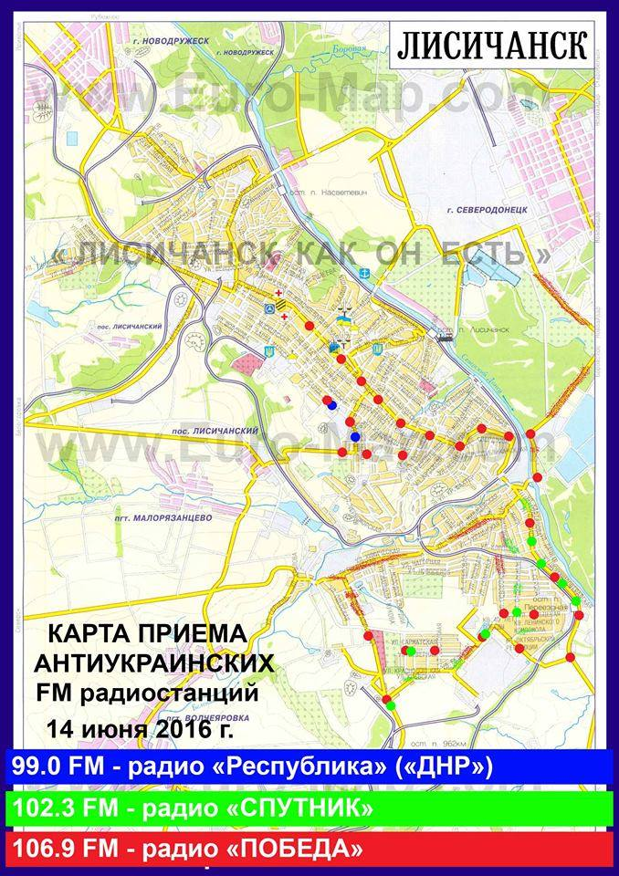 Українське місто накрила пропаганда сепаратистів: з'явилася карта (1)