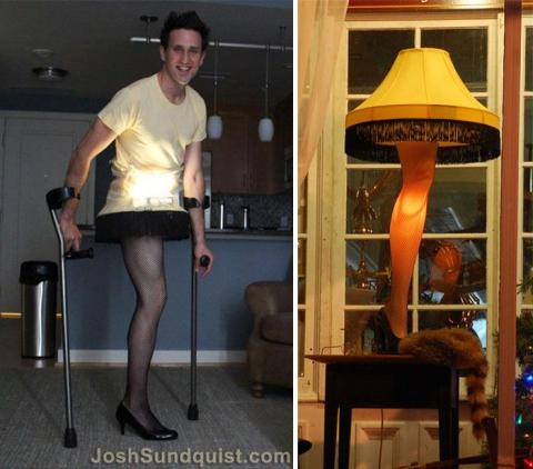 Каждый Хэллоуин этот одноногий парень делает необычные костюмы и вот что он придумал в этом году (8 фото) (2)