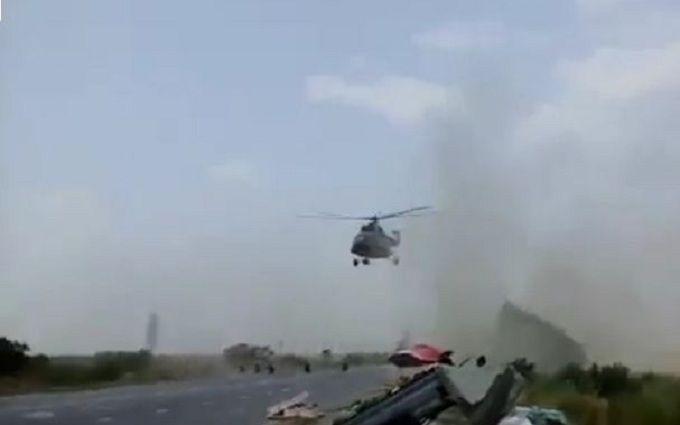 Курйозний інцидент з вертольотом стався на Запоріжжі: з'явилося відео