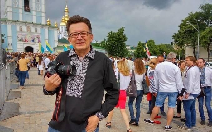 Російського блогера облили кефіром у Києві: опубліковані фото