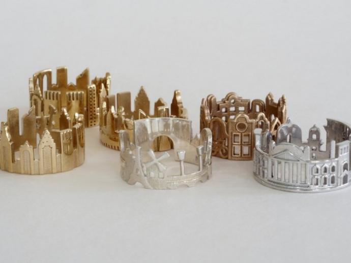 Драгоценные кольца с городскими пейзажами (22 фото)