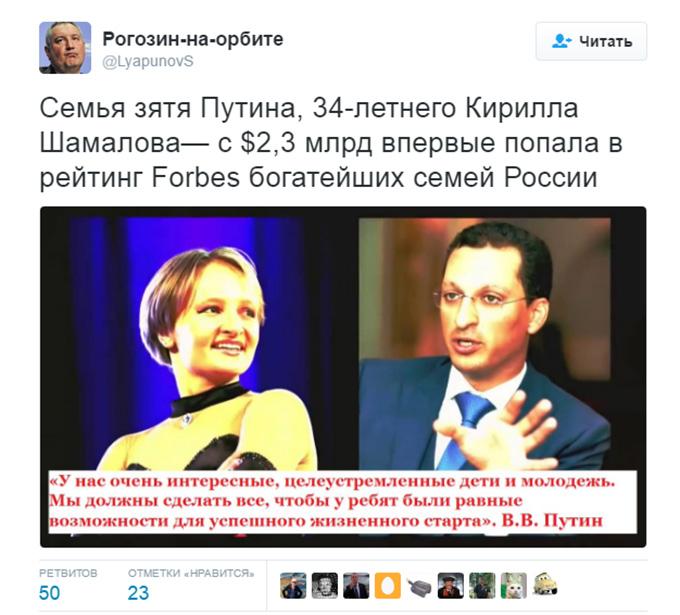 Соцмережі розвеселив зять Путіна, який потрапив до списку головних багатіїв Росії (1)