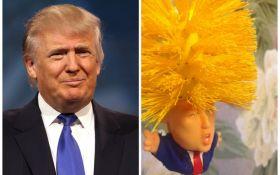 Оригинальный подарок на Новый год: в сети продают туалетный ершик в форме Дональда Трампа