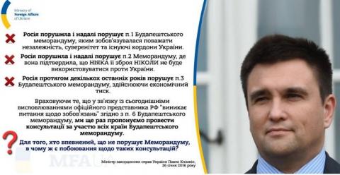 Украина предлагает провести консультации стран Будапештского меморандума (1)