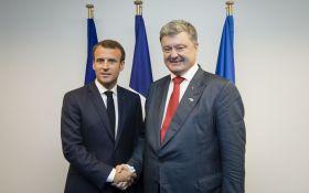 Встреча Порошенко и Макрона: о чем договорились президенты
