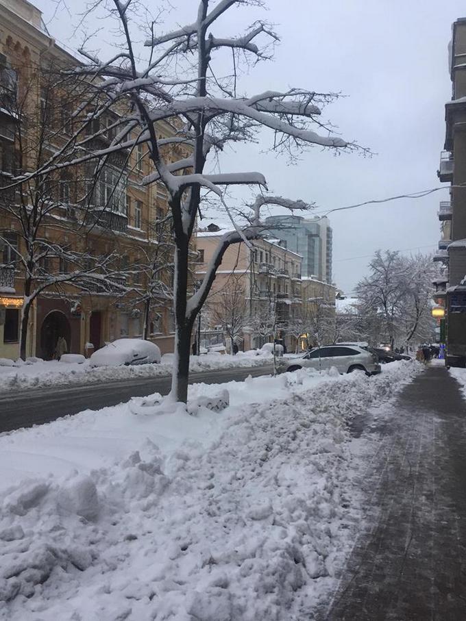 В Киеве из-за снега произошел транспортный коллапс (3)