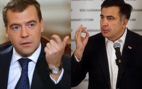 Прем'єр Росії грубо проїхався по Саакашвілі, той моментально відреагував