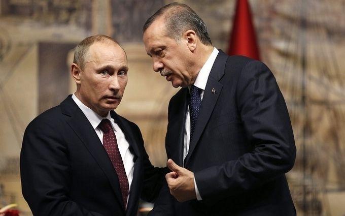 Турок і недопалок: відомий карикатурист жорстко висміяв нову дружбу Ердогана і Путіна