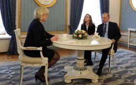 Путін на зустрічі з Ле Пен знову заходився брехати: з'явилося відео