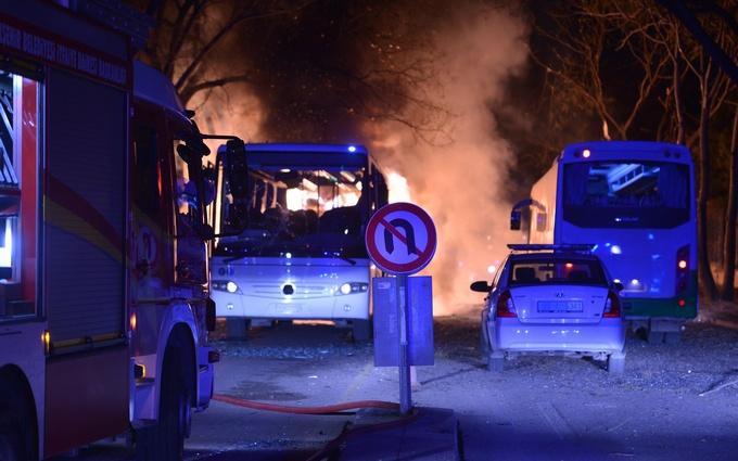 Появилось видео момента взрыва в Турции
