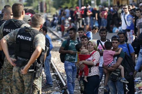 До Македонії за день прибула рекордна кількість мігрантівс