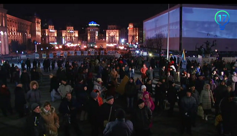 На Майдане установили палатку: опубликовано видео (1)