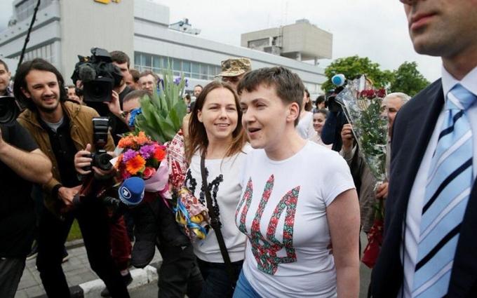 Савченко в Україні: з'явилися перші фото і відео