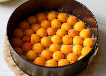Кладем абрикосы в форму