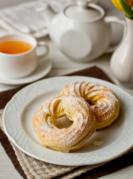 Заварные кольца с апельсиновым кремом из рикотты