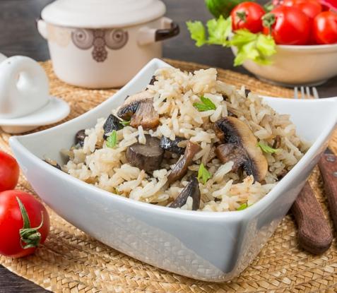 Рис басмати с грибами