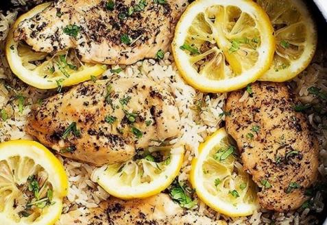 Рис с курицей и лимоном