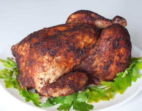 Запеченная курица в паприке