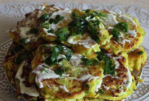 Рецепт - Картофельно-кабачковые оладьи