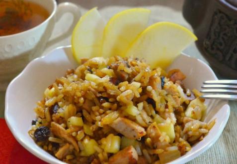 Рецепт - Рис с бужениной
