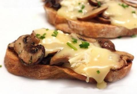 Рецепт - Бутерброды с шампиньонами и сыром