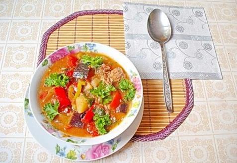 Рагу с мясом и овощами