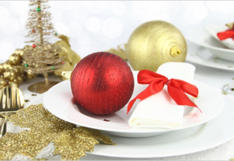 Сервировка новогоднего стола 2013