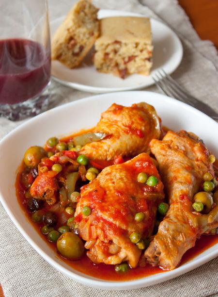 Фрикасе из курицы со сладким перцем