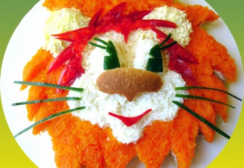 Детский салат львенок рецепт с фото