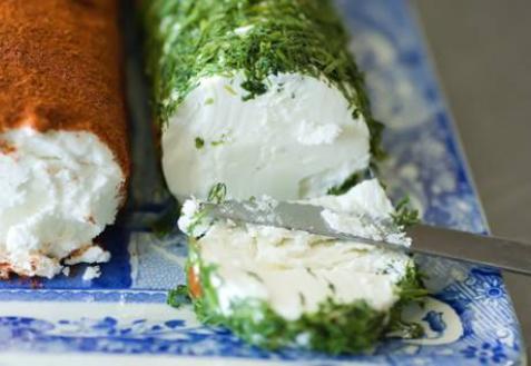 Рецепт - Сыр из козьего молока с укропом и паприкой