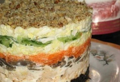 салат с грибами слоями рецепт с фото