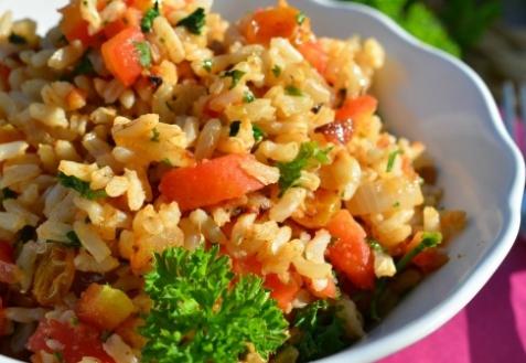 Рецепт - Рис с изюмом и минделем