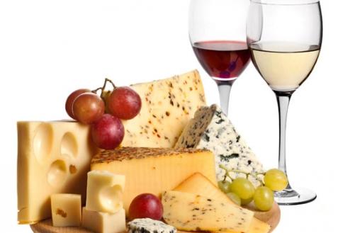 Сыры и вино