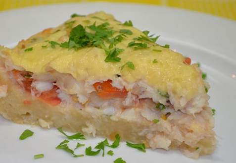 Рыбный пирог с сыром (видео)
