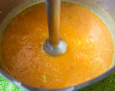 Перемалываем суп блендером