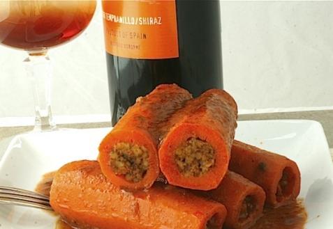 Морковь, фаршированная орешками