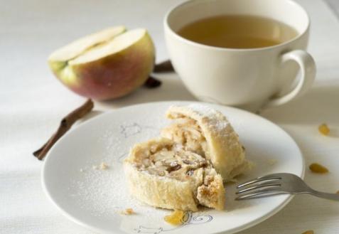 Постные блюда: Яблочный штрудель