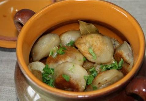 Рецепт - Постные пельмени с грибами