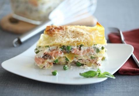 Рецепт - Лазанья с лососем