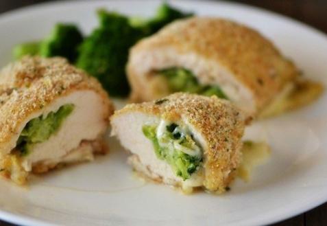 Куриные роллы с брокколи и сыром