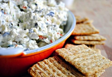 Рецепт - Сырная закуска с оливками