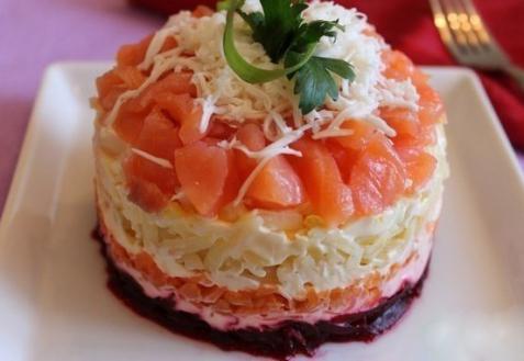 Семга салат фото