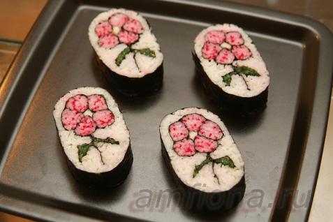 Рецепт - Кадзари-суши «Цветок»