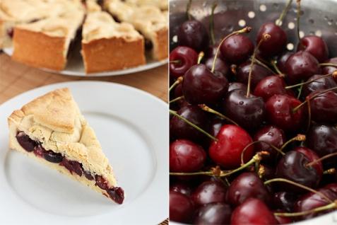Рецепт - Баскский пирог с черешней