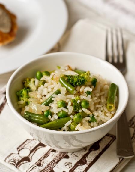 Рис с зелеными овощами