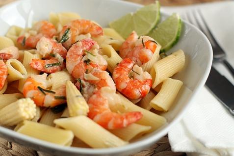 Рецепт - Паста с креветками