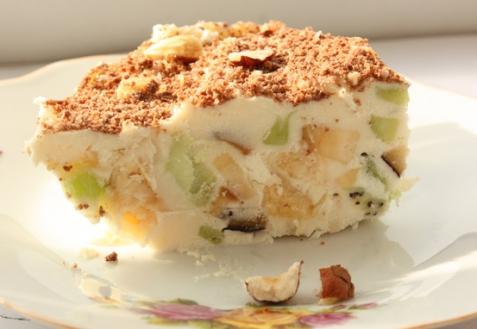Рецепт - Творожное мороженое с фруктами
